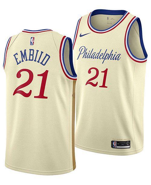Nike Men's Joel Embiid Philadelphia 76ers City Edition Swingman Jersey