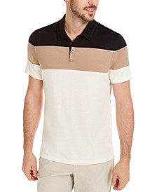 Men's Colorblocked Polo Shirt, Created for Macy's
