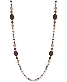 "Gold-Tone Stone & Bead 42"" Strand Necklace"