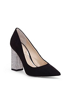 Welles Embellished Heel Pumps