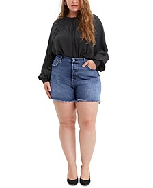 Trendy Plus Size 501® High-Rise Denim Shorts