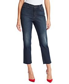 Women's Warren High-Rise Straight Ankle Jeans