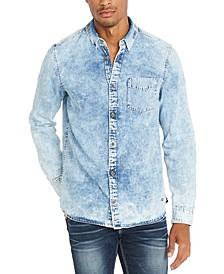 Men's Denim Long-Sleeve Shirt