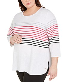 Plus Size Bedford Stripe Top