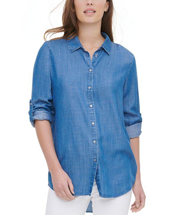 Calvin Klein Roll-Tab-Sleeve Shirt