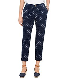 Polka-Dot Chino Pants, Created For Macy's