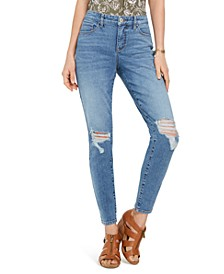 Destructed Curvy Skinny Jeans, Created For Macy's
