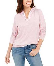 Style & Co Stripe Hoodie, Created for Macy's
