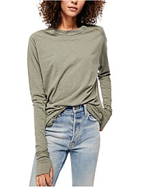 Arden Solid Long-Sleeved T-Shirt