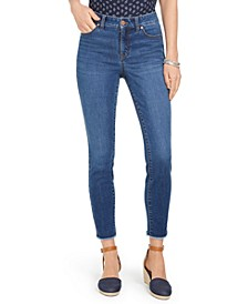 Petite Uptown Frayed-Hem Jeans, Created for Macy's