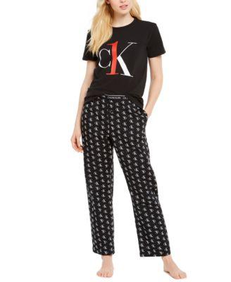 CK One Logo-Print Pajama T-Shirt