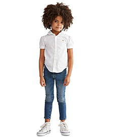 Toddler Girls Solid Oxford Top