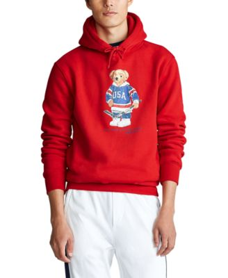 Polo Ralph Lauren Men/'s Red Pullover Hooded T-Shirt