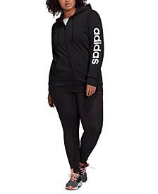 Women's Plus Size Essentials Zip-Front Hoodie