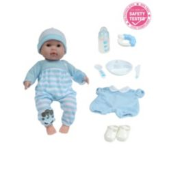 """Berenguer Boutique 15"""" Soft Body Baby Doll Blue Outfit"""