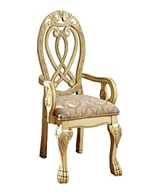 Traditional Style Arm Chair, Set of 2
