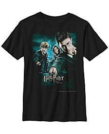 Harry Potter The Order of The Phoenix Poster Little and Big Boy Short Sleeve T-Shirt