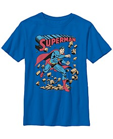 DC Comics Little and Big Boys Superman in Action Short Sleeve T-Shirt