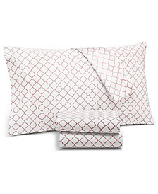 Arabesque Geo 4-Pc. Queen Sheet Set, 550-Thread Count Supima Cotton Created for Macy's