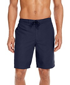 "Men's Solid Quick-Dry 9"" Board Shorts, Created for Macy's"