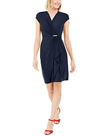 Knit Cap-Sleeve Crossover Dress, Created for Macy's