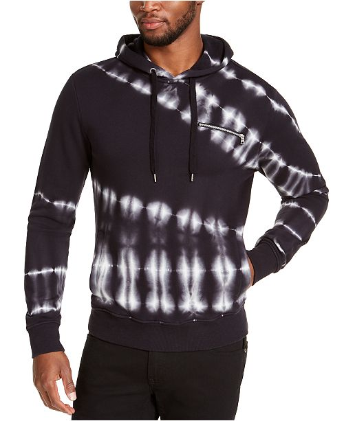 INC International Concepts INC Men's Slant Tie Dye Hoodie, Created for Macy's