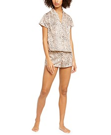 INC Printed Short Sleeve Top & Shorts Pajama Set, Created for Macy's