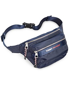 타미 힐피거 벨트백 Tommy Hilfiger Mens Wells Belt Bag,Navy/red