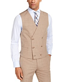 Men's Classic-Fit UltraFlex Stretch Textured Double-Breasted Suit Vest