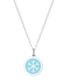 Mini Snowflake Necklace in Sterling Silver