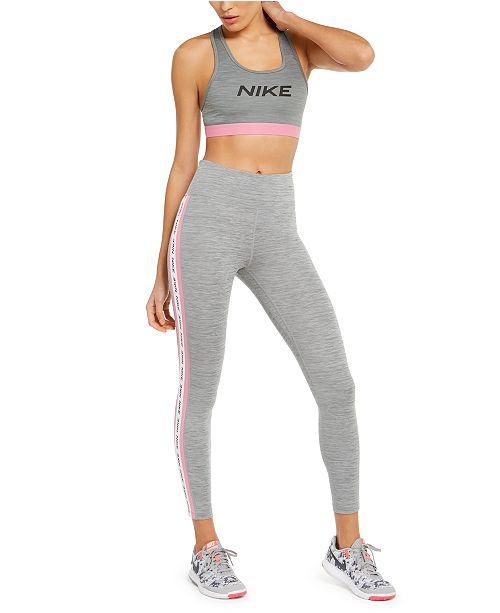 Nike Racerback Mid-Impact Sports Bra & Logo Leggings