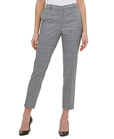 Plaid Slim Fit Dress Pants