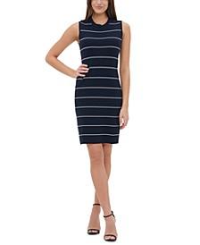 Striped Sweater Sheath Dress