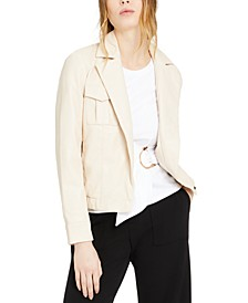 INC Faux-Leather Moto Jacket, Created for Macy's