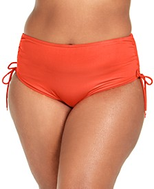 Plus Size Ruched Hipster Bikini Bottom