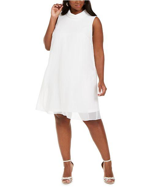 Connected Plus Size Trapeze Dress