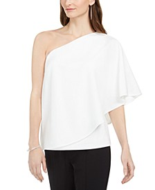 Crepe Draped Top