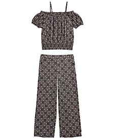 Big Girls 2-Pc. Mosaic Top & Culottes Set, Created for Macy's