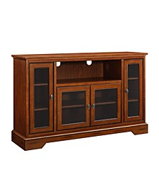 "52"" Wood Highboy TV Media Stand Storage Console"
