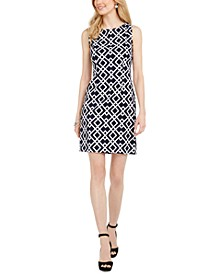 Petite Diamond-Print Sheath Dress