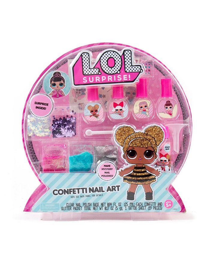 LOL Surprise! - Confetti Nail Art