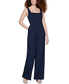 Printed Wide-Leg Jumpsuit