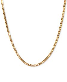 "Curb Link 20"" Chain Necklace in 18k Gold-Plated Sterling Silver"