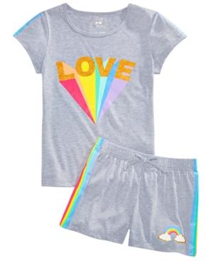 Max & Olivia Big Girls 2-Pc. Love Pajamas Set