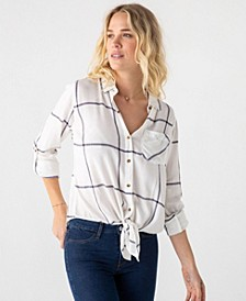 Thread Supply Soft Tie Front Long Sleeve Button Down