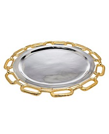 Gold Chain Border Charger Plate