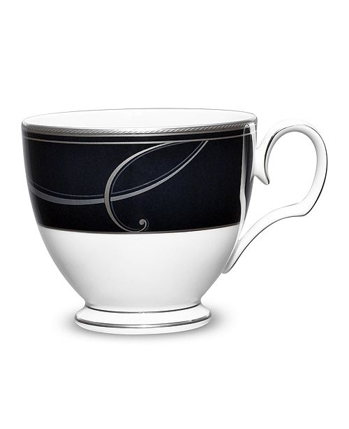 Noritake Platinum Wave Ebony Cup, 7 Oz.