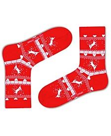 Christmas Reindeer Organic Cotton Socks Gift Box