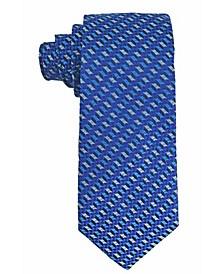 Men's Geometric Design Silk Tie