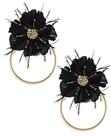 Zaxie Moody Hues Flower Hoop Earrings